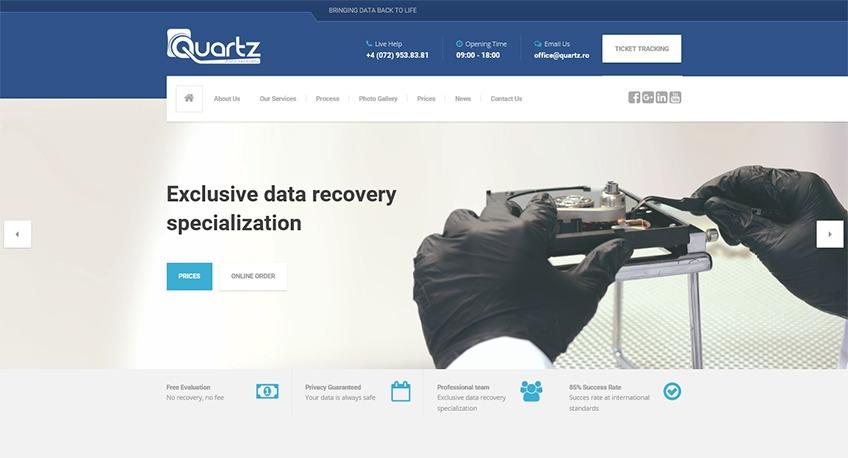 Acum si pe plan international - QUARTZ Data Recovery